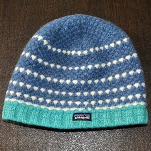 Patagonia Blue Wool Beanie Cap
